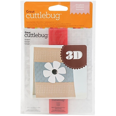 Provo Craft Cuttlebug 3D A2 Embossing Folder/Border Set, Gingham