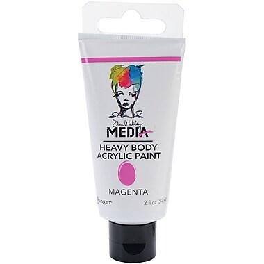 Ranger Dina Wakley Media Heavy Body 2 oz. Acrylic Paint, Magenta