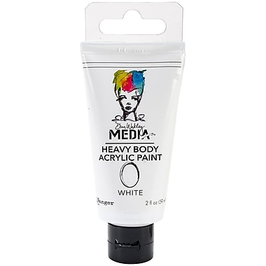 Ranger Dina Wakley Media Heavy Body 2 oz. Acrylic Paint, White