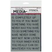 """Ranger Dina Wakley 6"""" x 9"""" Media Stencil, Affirmations"""