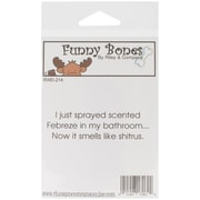 Riley & Company Funny Bones 3 x 3/4 Cling Mounted Stamp, Febreze