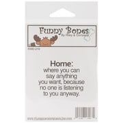 Riley & Company Funny Bones 2 1/2 x 1 3/4 Cling Mounted Stamp, Home