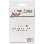 Riley & Comapny Funny Bones 2 1/2 x 1 Cling Mounted Stamp, The First 50 Years