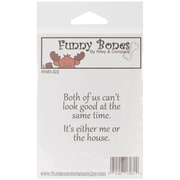 Riley & Company Funny Bones 2 x 1 1/4 Cling Mounted Stamp, Me Or The House