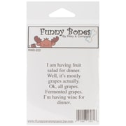 Riley & Company Funny Bones 2 x 2 Cling Mounted Stamp, Fruit Salad