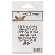 Riley & Company Funny Bones 2 x 2 Cling Mounted Stamp, Give Them Something To Talk About