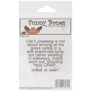 Riley & Company Funny Bones 2 1/2 x 2 Cling Mounted Stamp, Life's Journey