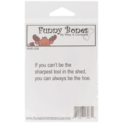 Riley & Company Funny Bones 2 1/2 x 3/4 Cling Mounted Stamp, Sharpest Tool In The Shed