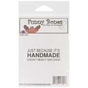 "Riley & Company Funny Bones 2"" x 3/4"" Cling Mounted Stamp, Handmade-Not Cheap"