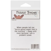 Riley & Company Funny Bones 2 1/2 x 1 Cling Mounted Stamp, You're Gonna Regret