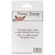 Riley & Company Funny Bones 2 1/2 x 1 Cling Mounted Stamp, I Am The Doctor