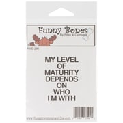 Riley & Company Funny Bones 1 1/2 x 2 Cling Mounted Stamp, My Level Of Maturity
