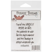 Riley & Company Funny Bones 2 x 2 1/2 Cling Mounted Stamp, Two Of The Hardest Tests