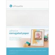 """Silhouette Of America SILCORR Adhesive White Corrugated Paper, 11"""" x 8.5"""""""