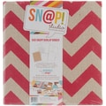 Simple Stories 6in. x 8in. Burlap Sn@p! Binder, Red