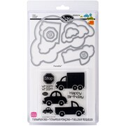 Sizzix® Framelits Die Set With Stamps, Cars