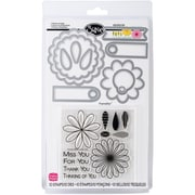 Sizzix® Framelits Die Set With Stamps, Flowers & Tags