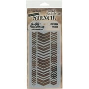 "Stampers Anonymous Tim Holtz® 8 1/2"" x 4 1/8"" Layered Stencil, Chevron"