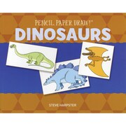 """Sterling Publishing """"Pencil, Paper, Draw!®: Dinosaurs"""" Book"""