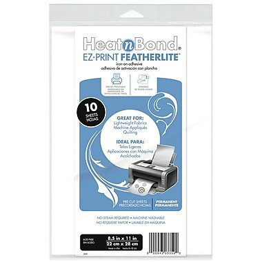 Thermoweb HeatnBond EZ Print FeatherLite Sheets, 10/Pack