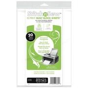 Thermoweb StichnSew® 8 1/2 x 11 EZ Quilt Block Sheets™, Transparent