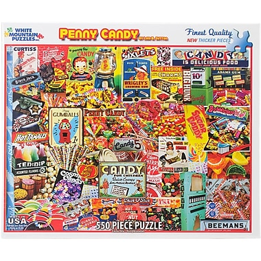 White Mountain 550-Pieces Jigsaw Puzzle, 18