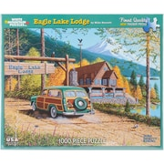 "White Mountain 1000-Pieces Jigsaw Puzzle, 24"" x 30"", Eagle Lake Lodge"