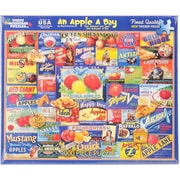"""White Mountain 1000-Pieces Jigsaw Puzzle, 24"""" x 30"""", An Apple A Day"""