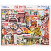 """White Mountain 1000-Pieces Jigsaw Puzzle, 24"""" x 30"""", Fill Her Up"""