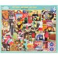 White Mountain 1000-Pieces Jigsaw Puzzle, 24in. x 30in., Retro, Retro, Retro