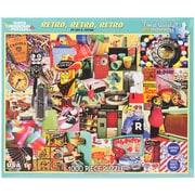 """White Mountain 1000-Pieces Jigsaw Puzzle, 24"""" x 30"""", Retro, Retro, Retro"""