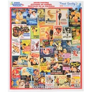 """White Mountain 1000-Pieces Jigsaw Puzzle, 24"""" x 30"""", Movie Posters"""