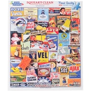 """White Mountain 1000-Pieces Jigsaw Puzzle, 24"""" x 30"""", Squeaky Clean"""