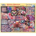 White Mountain 1000-Pieces Jigsaw Puzzle, 24in. x 30in., Granny Squares