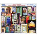 White Mountain 550-Pieces Jigsaw Puzzle, 18in. x 24in., Doors Of The World
