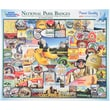 White Mountain 1000-Pieces Jigsaw Puzzle, 24in. x 30in., National Park Badges