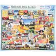 White Mountain 1000-Pieces Jigsaw Puzzle, 24 x 30, National Park Badges