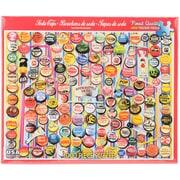 """White Mountain 1000-Pieces Jigsaw Puzzle, 24"""" x 30"""", Soda Caps"""