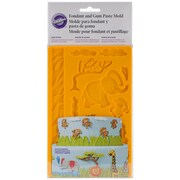 "Wilton W2558 Fondant and Gum Jungle Animals Paste Mold, 7.75""H x 5""W, 10/Pack"