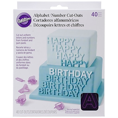 Wilton W4172589 Multicolor Alphabet and Number Cutout