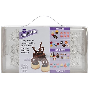 Wilton W50030 Multicolor Candy Melts Candy Mold Set