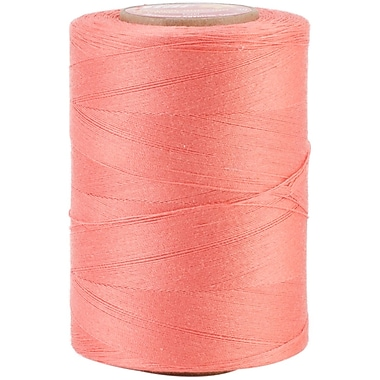 YLI Corporation Star Mercerized 3 Ply Solids Cotton Thread, 1200 Yds, Flamingo