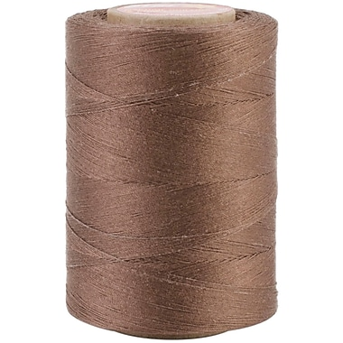 YLI Corporation Star Mercerized 3 Ply Solids Cotton Thread, 1200 Yds, Seal Brown