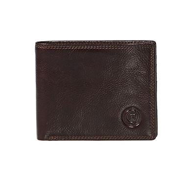 Club Rochelier Slimfold Wallet With Center Wing, Mahogany