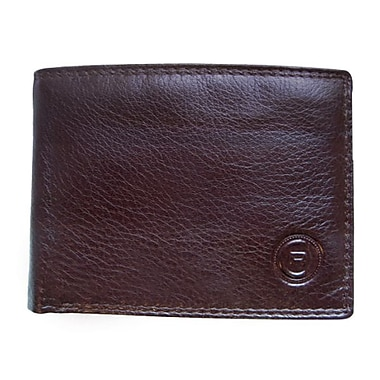 Club Rochelier Slimfold Wallet With Removable Flap, Mahogany