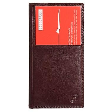 Club Rochelier Ticket Wallet, Mahogany