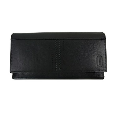 Club Rochelier Clutch Wallet With Checkbook, Black
