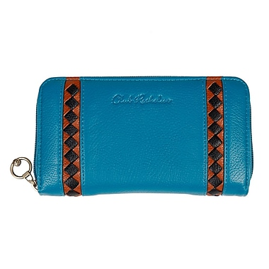 Club Rochelier Zippered Round Clutch, Teal