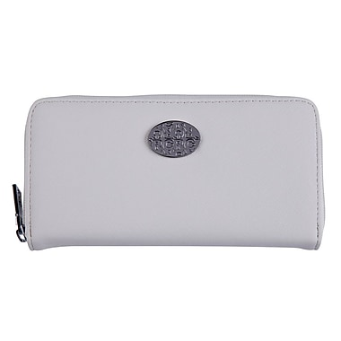 Club Rochelier Zippered Round Clutch with Coin Pocket, Nude
