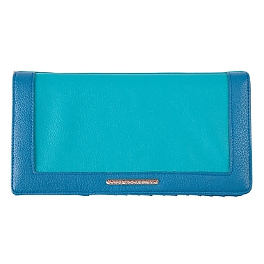 Club Rochelier Ticket Wallet With Pen Loop, Turquoise